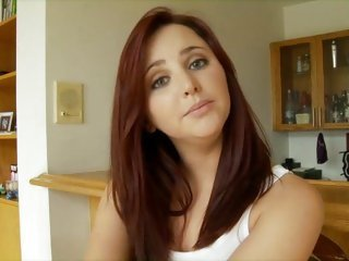 Adorable redhead bangs a big dick