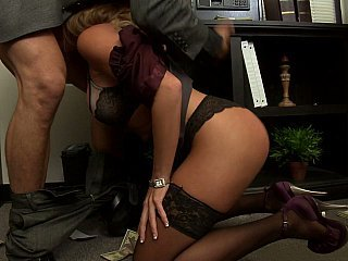 Amazing Blowjob Lingerie  Office Secretary Stockings