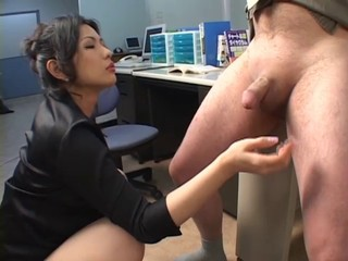 Amazing Asian Cute Handjob Japanese  Office