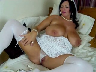 Amazing  Big Tits Bride  Natural Panty  Stockings