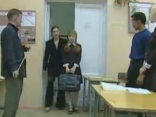 Russian School Teacher Teen