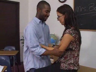 Glasses Interracial  School Teacher