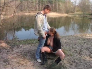 Amateur Big Tits Blowjob Clothed  Natural Outdoor