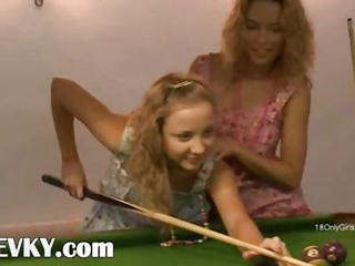Lesbo Revenge On The Billiards