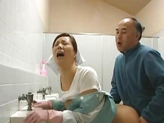 Asian Clothed Doggystyle  Orgasm Toilet