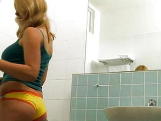 Showering Blonde Pussy Fucked On...