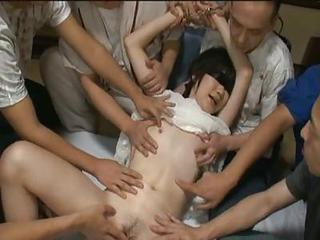 Cute Asian Babe In Hot Gang Bang...