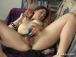 Hairy Teen Masturbates With A Lo...