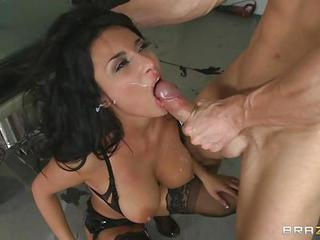 Naughty Anissa Kate Gets Covered...