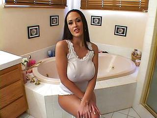 Amazing Bathroom Big Tits Cute  Pornstar