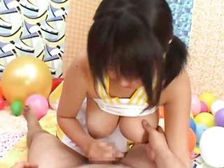 Asian Handjob Natural Nipples Small cock