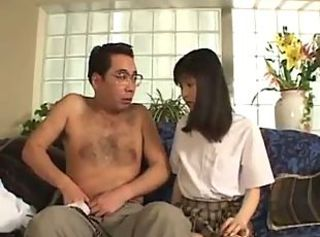 Asian Daddy Daughter Japanese Old and Young School Teen Uniform