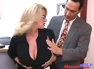 Amazing Big Tits Glasses  Office
