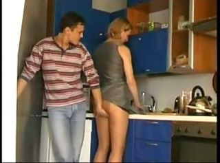 Mom and boyfriend Fucks In Kitchen