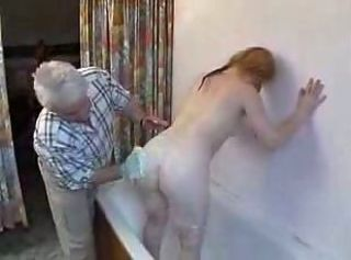 Old Man Fuck Lil Teen Girl In The Ass