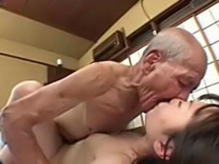 Poor japanese schoolgirl fucked by old fart