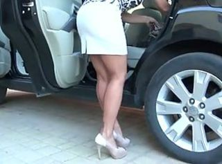 Car Legs MILF Stockings