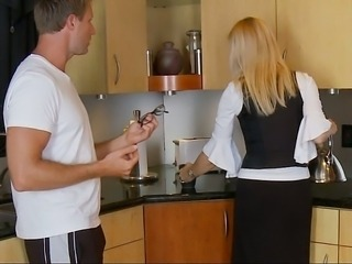 Amazing Blonde Kitchen  Pornstar