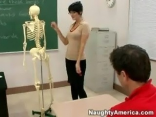 Brunette  Pornstar School Teacher