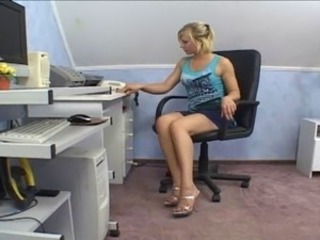 Amateur Cute Legs Office Teen
