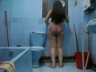 Ass Bathroom HiddenCam Mature Voyeur