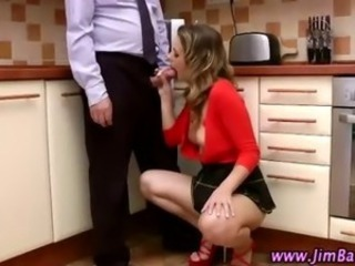 Amazing Blowjob British Handjob Kitchen Pornstar Teen