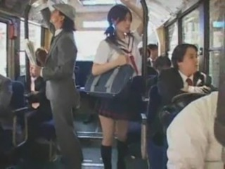 Asian Bus Cute Japanese Pigtail Skirt Student Teen