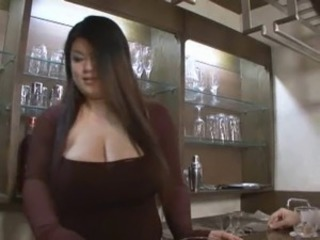 Asian bbw hj gear up strapon