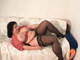 Chunky Chick Wiggles And Jiggles For The Cam Fans Of Her Show