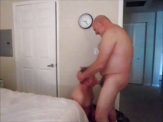 Big Bald Old Dad Fucksbare Younger Tempt a prepare Old bag