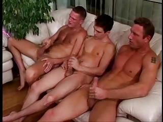 Three Guys Taking The Tasty Blonde Girl