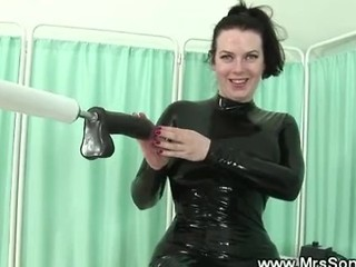 Full-grown In Latex Sucks With the addition of Fucks Carnal knowledge Tool