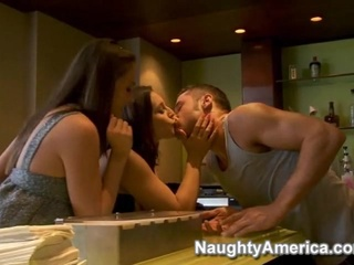 Amazing Kissing Kitchen Pornstar Teen Threesome