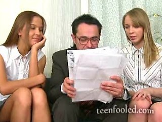 Two Students Seduce Old Teacher But They Fell For A Trick