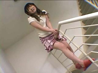 Asian Cute Japanese Masturbating Orgasm Skirt Teen