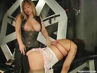 Slave Has Her Titties Tied Up