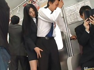 Naughty Saori Hara pleases a guy in..