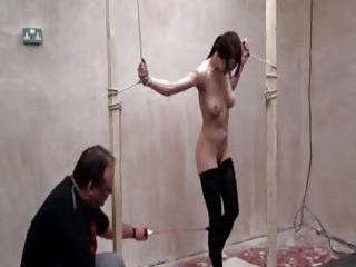 Tied Teen Does Electro Shock Play
