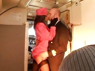 Stewardess Kate Jones gets a \'plane\' fuck