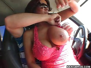 Backseat Action With A Sexy Latina..