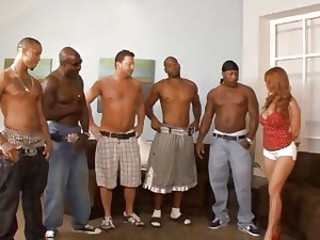MILF Janet Mason takes her pick of these black boners