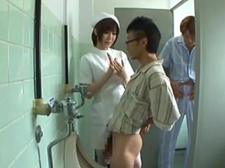 Japanese Horny Nurse gives Hot Blowjob