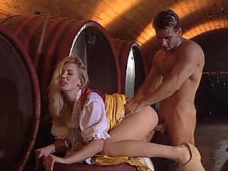 Hardcore Sex With a Hot Blonde In a Wine Cellar