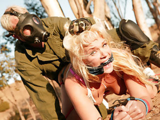 Busty blonde and dead fucking gorgeous, Heidi Mayne just got even fucking hotter. Tied and chained to a tree, Heidi's amazing round ass got slammed so fucking hard will getting her tits squeezed extremely hard! She was so into that cock ramming her she al