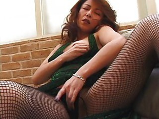 Asian Japanese Masturbating  Pantyhose