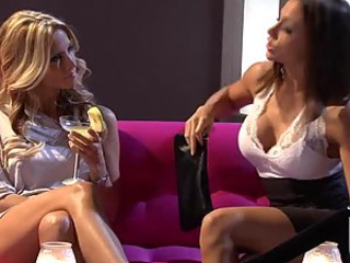 Horny Lesbian MILFs Jessica Drake and Chanel Preston Get Threesomed