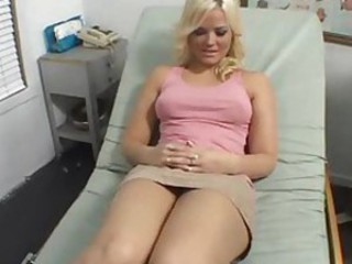 Babe Blonde Doctor Natural Pornstar Uniform