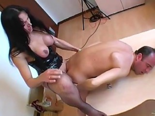 Hot Group Sex Orgy With Sexy Brunette Shemale