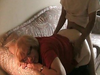 Chubby amateur mature fucked from behind