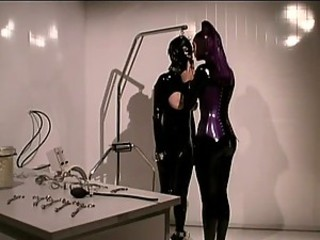 Dominant Anastasia Pierce Makes Her Sex Slave Wear a Suffocating Suit
